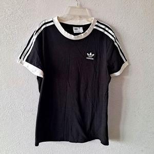 Black Adidas Striped Shirt